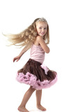 Little girl dancing in studio