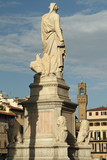 rear view of  statue  by Enrico Pazzi dedicated to Dante