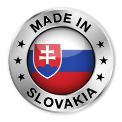 Made In Slovakia Silver Badge