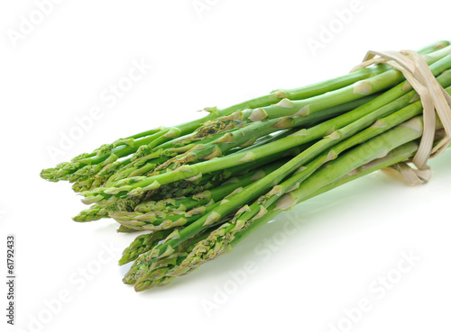 Asparagus isolated on white background
