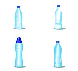 Bottiglie di plastica vector