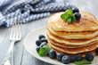 Pancakes with fresh berries - 61792852