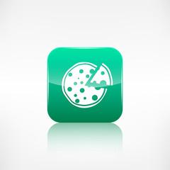 Pizza web icon. Application button.