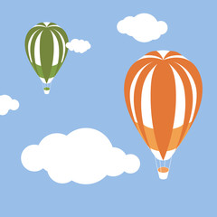 Balloon and Clouds, illustrator vector design.