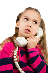 Girl Talking by the Phone