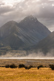 stormy weather at Mount Cook National Park
