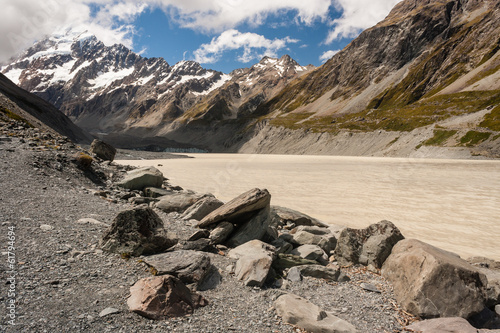 Hooker Lake in Mount Cook National Park