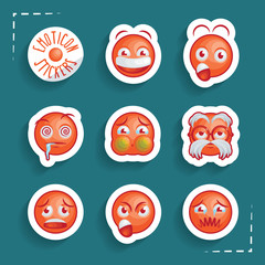 Funny Emoticon Stickers