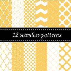 Twelve seamless geometric patterns