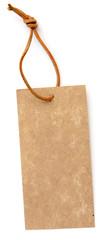 étiquette carton cordonnet cuir