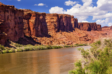 Colorado River Rock Canyon Reflection Near Arches Moab Utah