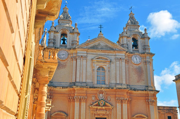 Saint Pauls cathedral in Mdina