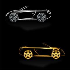 fond noir roadster