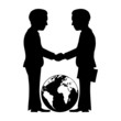 Vector business sign. Handshake. - 61797213