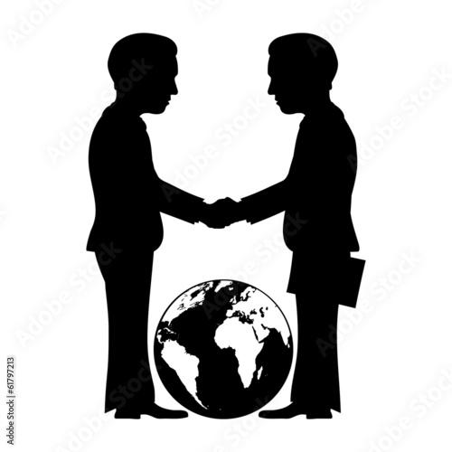 Vector business sign. Handshake. - 61797213