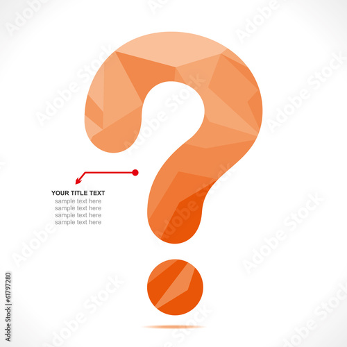 creative question mark design  vector