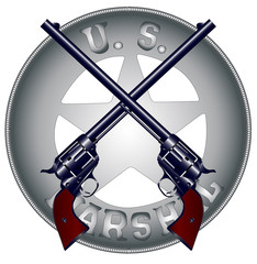 US Marshal Guns and Badge