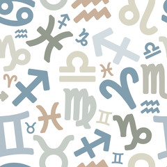 seamless pattern with zodiac symbols