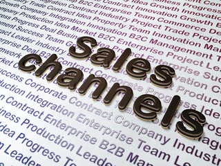 Marketing concept: Sales Channels on Business background