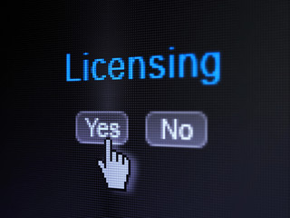 Law concept: Licensing on digital computer screen