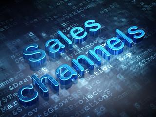 Marketing concept: Blue Sales Channels on digital background