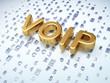 SEO web development concept: Golden VOIP on digital background