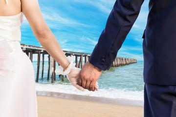 Wedding at clean beach