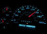 Vehicle over speed dashboard warning light - 61798809