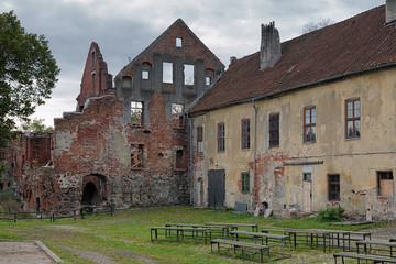 Ruins of the Castle Insterburg in Chernyakhovsk, Russia