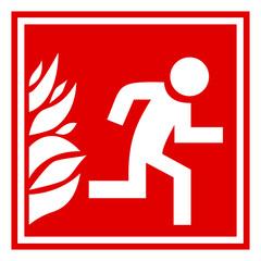 Fire evacuation sign