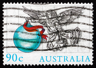 Postage stamp Australia 1985 Angel with Ornament