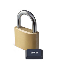 internet security concept with clipping path