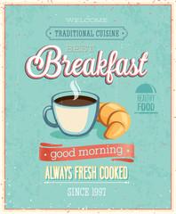 Vintage Breakfast Poster.