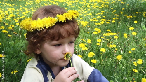 Child in Dandelions