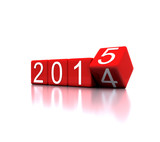 3D illustration - dice with new year 2015