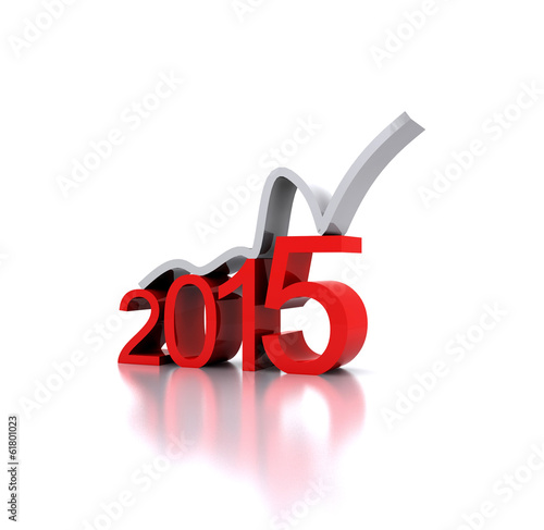 3D illustration - a recovery in the New Year 2015