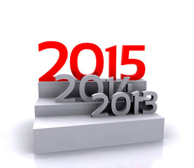 3D illustration - new year 2015