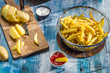 French fries made ​​from potatoes