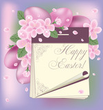 Easter spring calendar, vector illustration
