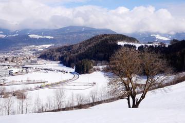 Regional train near Bruneck, Italy