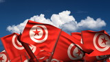 Waving Tunisian Flags