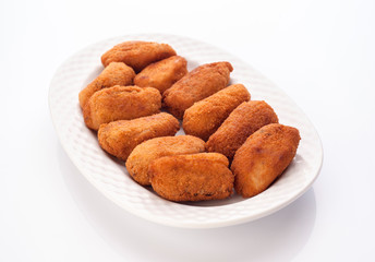 tray croquettes; ready to be served
