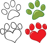 Dog Paw. Set  Collection