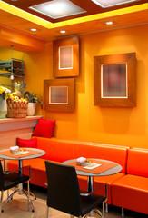 Orange Cafe bar interior