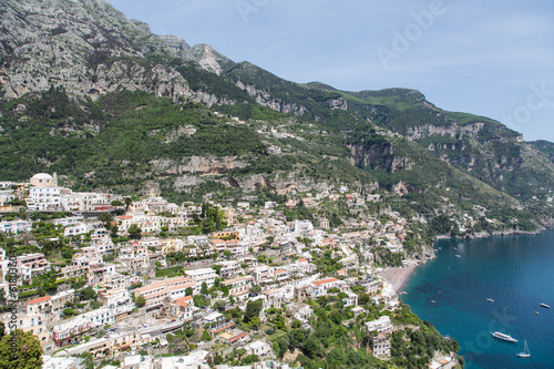Positano Over Blue Bay