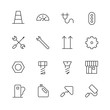Thin Line Icons For Industrial