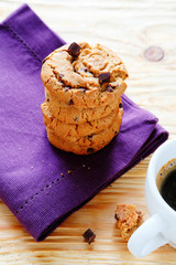 stack of cookies on a napkin