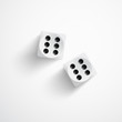 Dice on white background - 61805634
