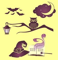 Набор векторных изображений на Хелоуин