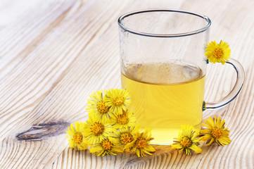 Huflattich-Tee, Coltsfoot-tea
